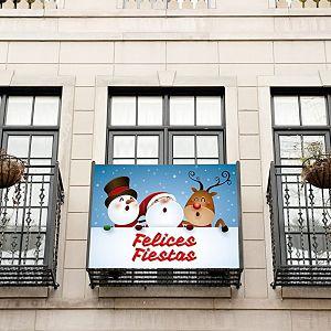 comprar banderolas navideña para el balcón
